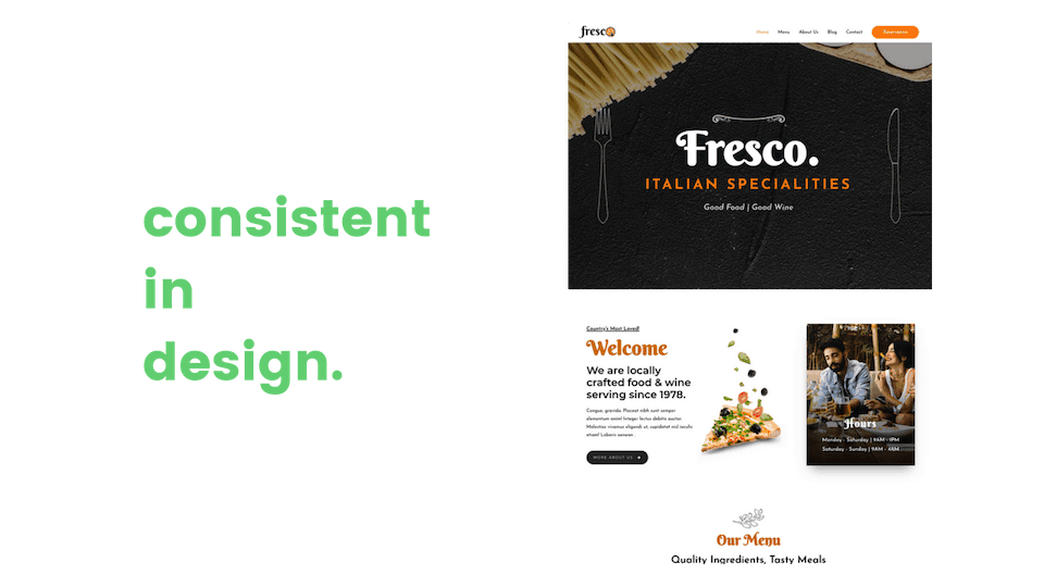 web design consistent in design colors and fonts image