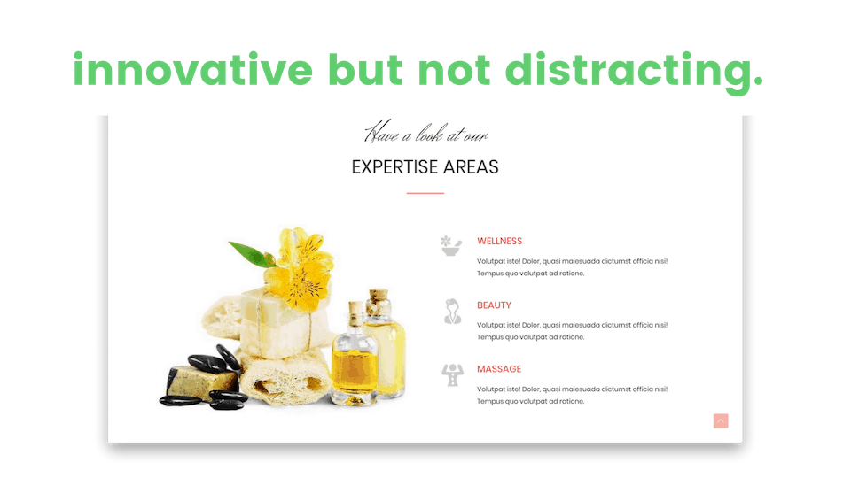 web design innovative but not distracting clean design image