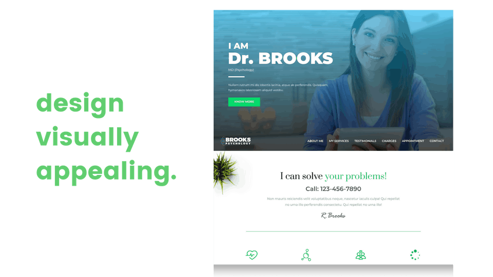 web design visually appealing clean minimalistic image