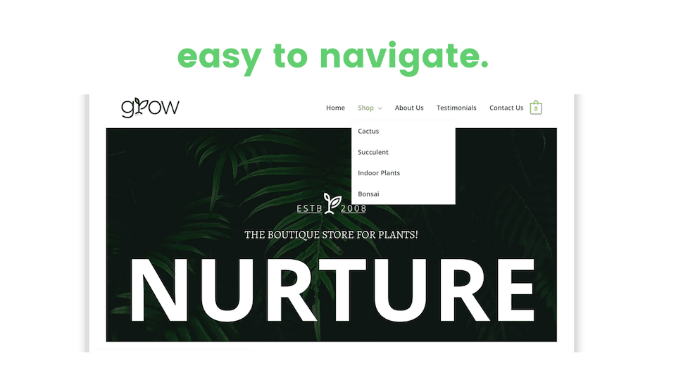website easy to navigate and explore image