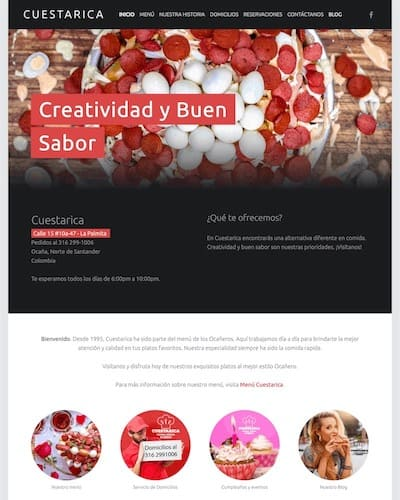 best houston web design company website for restaurant portfolio