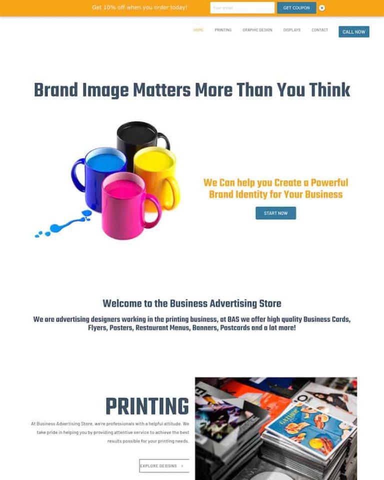 business advertising store web design development houston