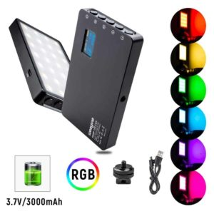 RGB LED Video Light Portable Mini Built in Rechargeable Battery LED