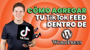 como añadir TikTok a wordpress