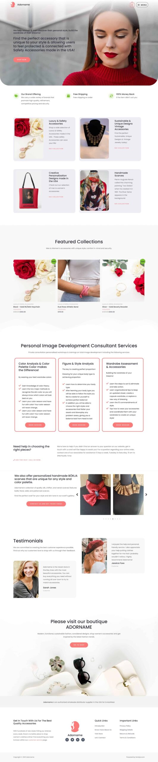 sondys online marketing webdesign web development houston adorname.com