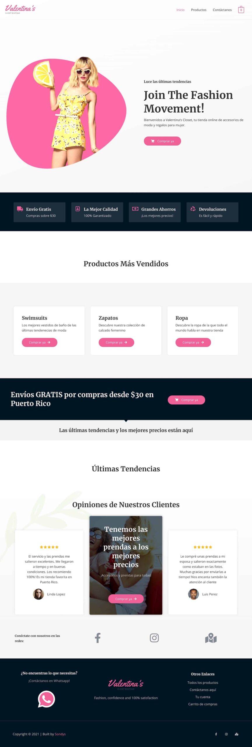 sondys online marketing web design web development houston valentinascloset.com