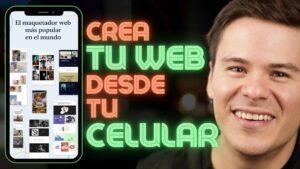 como crear una pagina web desde mi celular